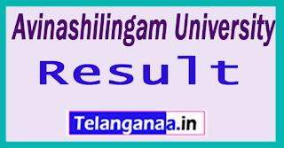 Avinashilingam University Results 2017