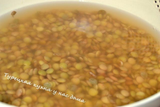 коричневая чечевица по-турецки