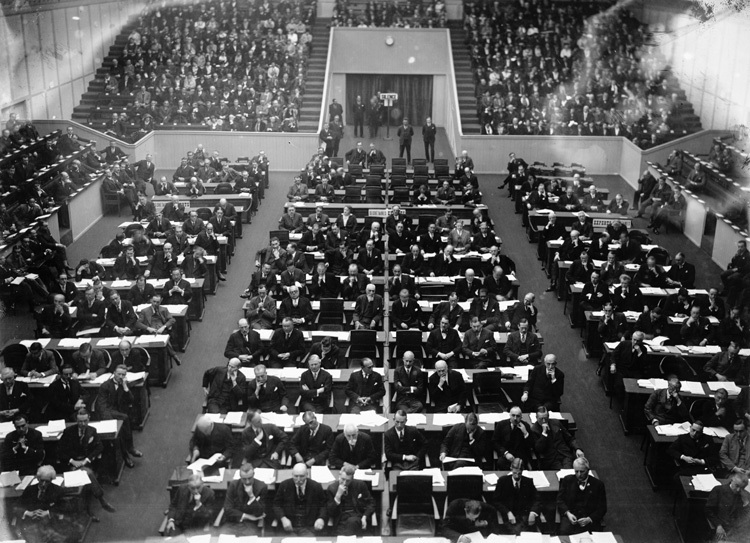 A meeting of League of Nations
