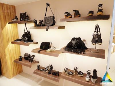 projeto arquitetura loja calçados femininos praleira corten flutuante iluminação led
