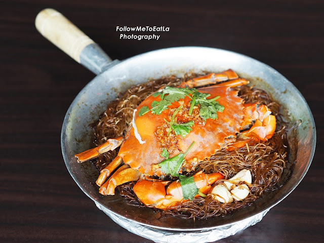 Claypot Glass Noodles With Crab