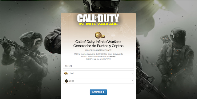 Call Of Duty: Infinite Warfare Landing Page