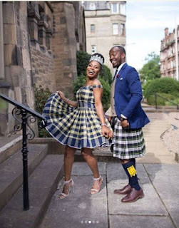 Awkward Moment Nigerian Man Wore Skirt On Wedding Day (Photos)