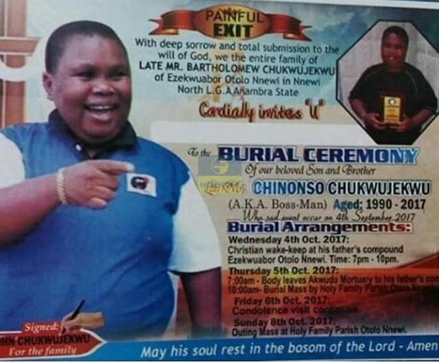 nigerian actor main bossman burial