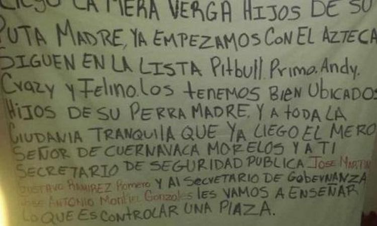 """""""Vamos a enseñar lo que es controlar una plaza"""" Sicarios de """"Los Rojos"""" le mandan advertencia al CJNG en Morelos"""