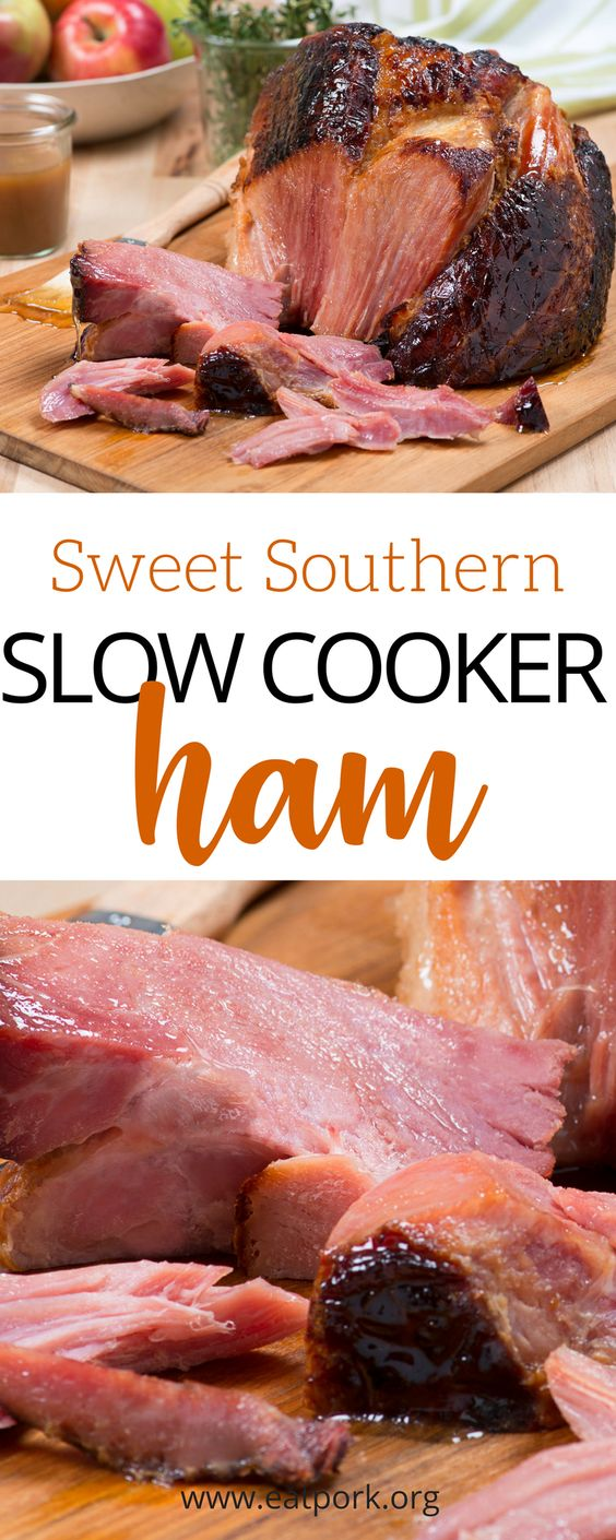 """Let's spice that easy slow cooker ham up a little with BOURBON!"" - Said everyone everywhere. ;) Check out this super simple ham recipe that includes some of our favorites like dark brown sugar, Kentucky bourbon, honey and more! Best news? Only 7 ingredients and your slow cooker does the rest!"
