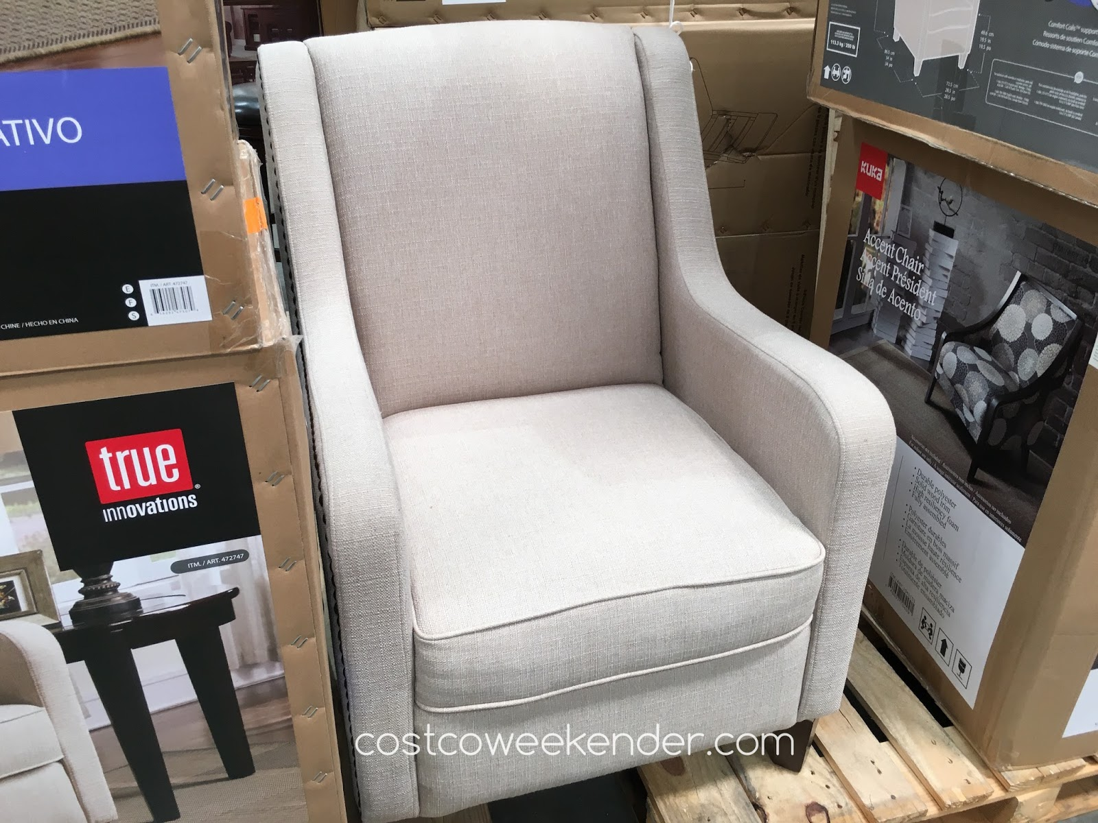 True Innovations Chair Costco Folding Chairs Lowes Fabric Accent Weekender
