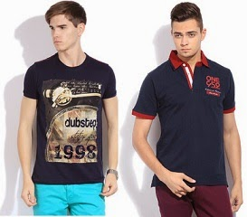 Min 55% off on T-shirts from Levi's, UCB, Status Quo, Crocodile and More @ Flipkart