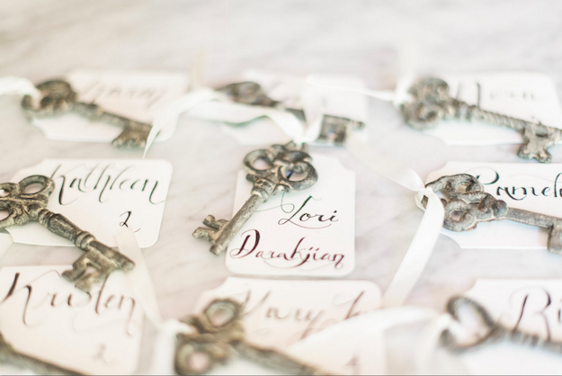 rustic italian olive oil branch bridal shower wedding outdoor key escort cards