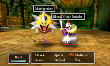 Dragon Quest VII Fragments of the Forgotten Past 3DS Metal slime knight Mastermine combat