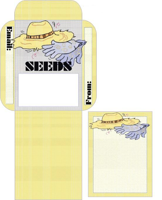 Start to grow seed saving packet downloads for Blank seed packet template