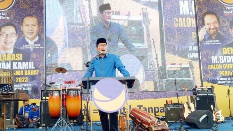 Deklarasi NasDem untuk Ridwan Kamil maju Pilgub Jabar