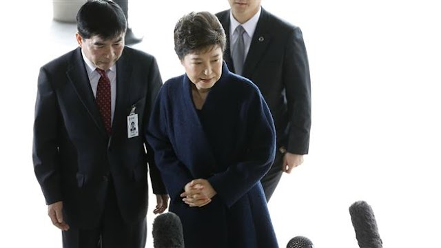 South Korea's ousted president Park Geun-hye questioned by prosecutors