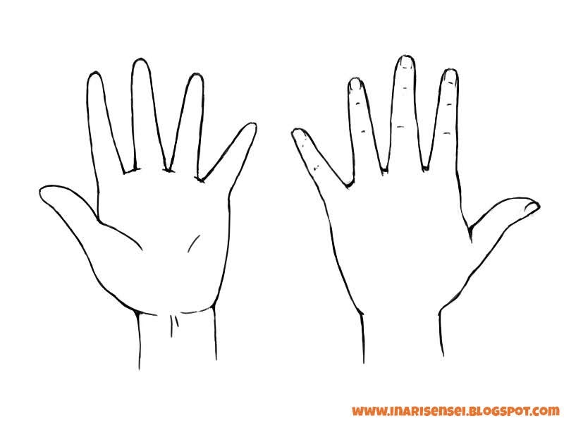 main de face et de dos