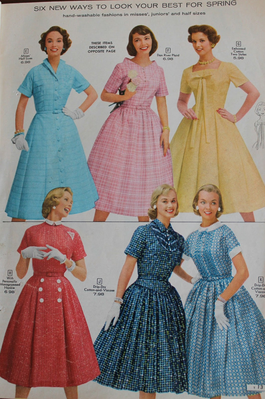 A Little Bit Of Everything Summer Fashions In 1958