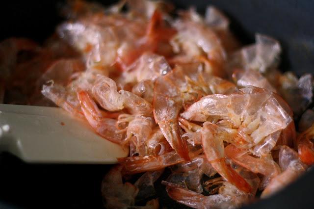 Sauteeing shrimp shells adds flavor