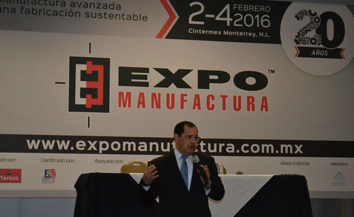 Luis Lizcano, Director General de la Federación Mexicana de la Industria Aeroespacial (Femia), participó en ExpoManufactura 2016. (Foto: VI)
