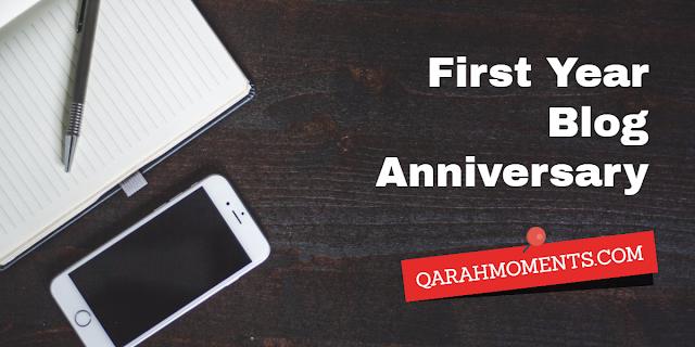 Qarah Moments Blog Anniversary
