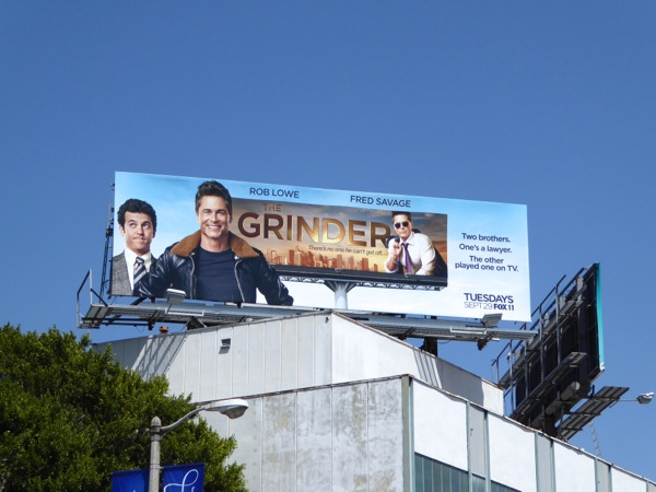 The Grinder series premiere billboard