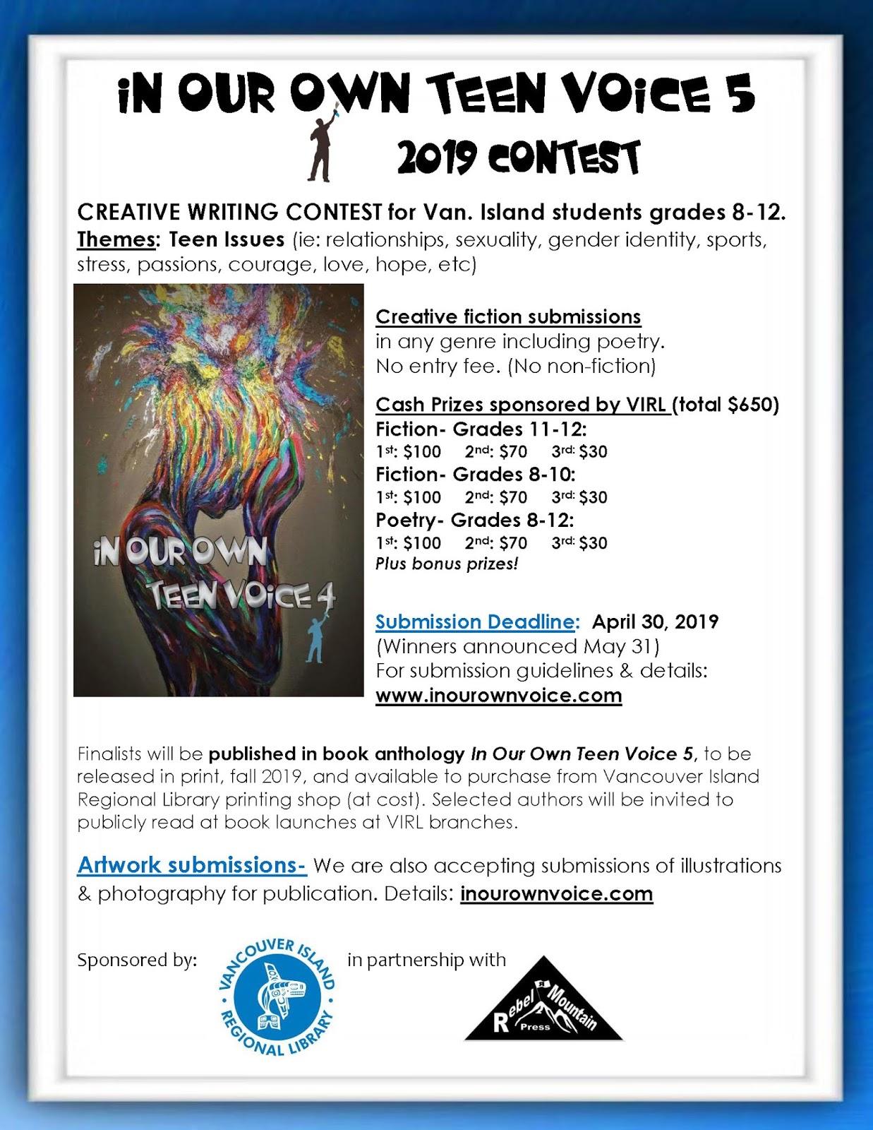Creative Writing Contests For Teenagers Creative Writing