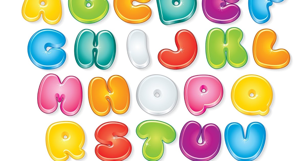 BANCO DE IMÁGENES: Abecedario Con Letras De Colores