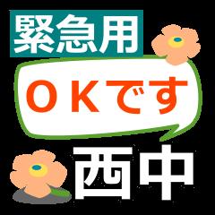 Emergency use.[nishichu]name Sticker