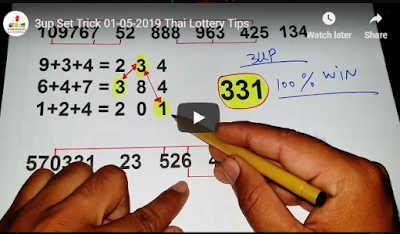 Thai lotto VIP tips 123 Facebook 3up Set Trick 01 May 2019