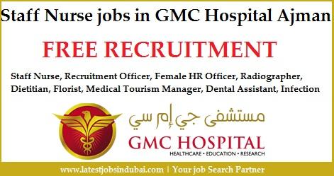 Staff Nurse jobs in GMC Hospital Ajman