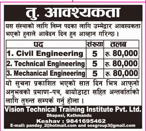 Engineering Jobs Vacancy Vision Technical Training