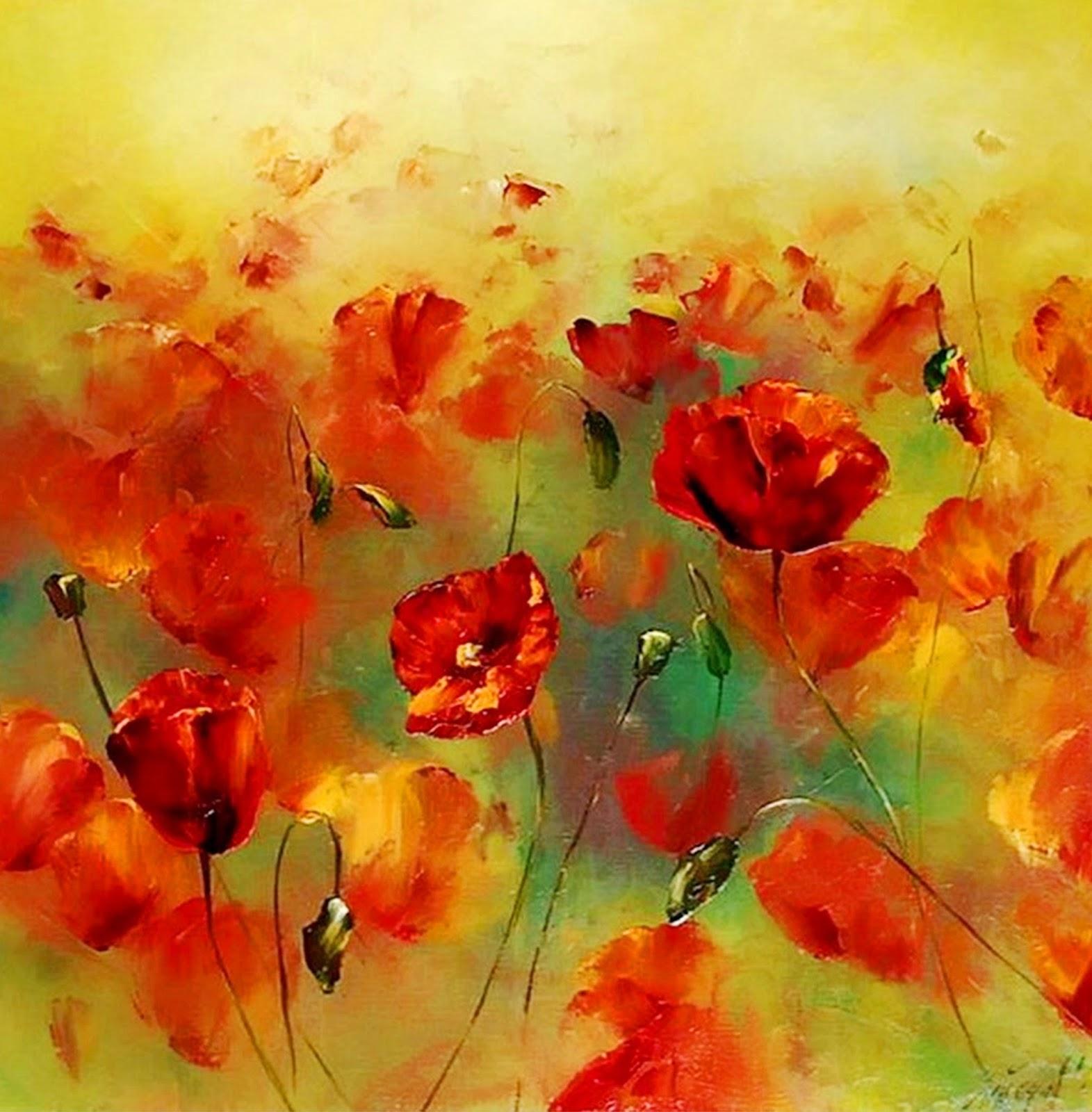Cuadros, pinturas, oleos: Pintura Moderna al Óleo (Flores)
