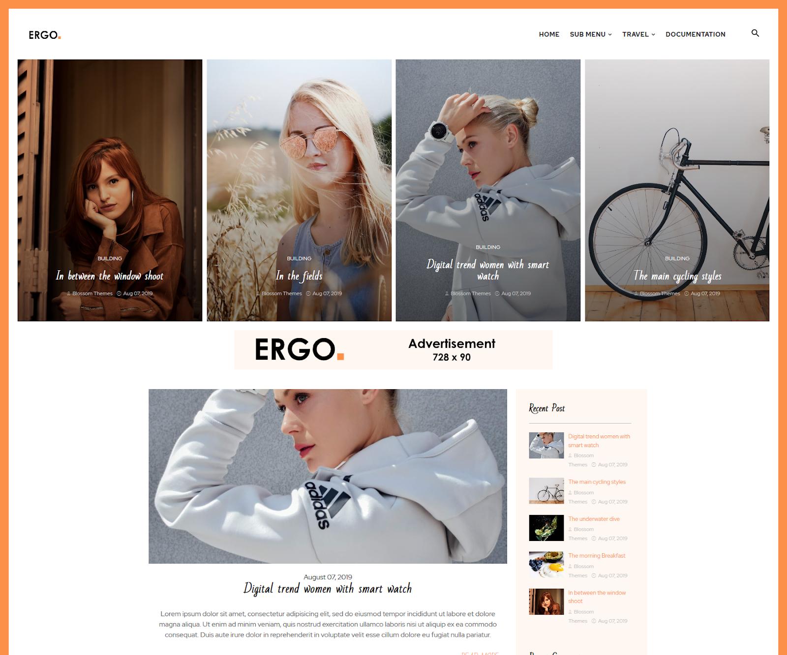 Ergo Blogger Template