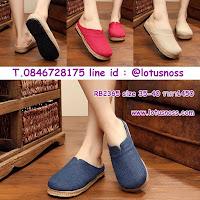 รองเท้าเพื่อสุขภาพ แฟชั่นเกาหลีผ้าลินินทอมือนุ่มสบาย นำเข้า ไซส์35ถึง40 มี3สี พรีออเดอร์RB2365 ราคา1450บาท