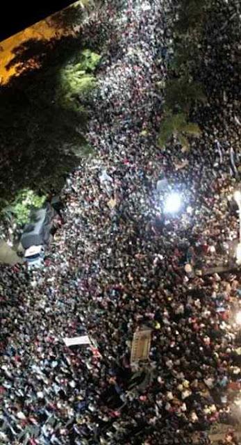 40.000 pessoas na cidade de Santa Fé.