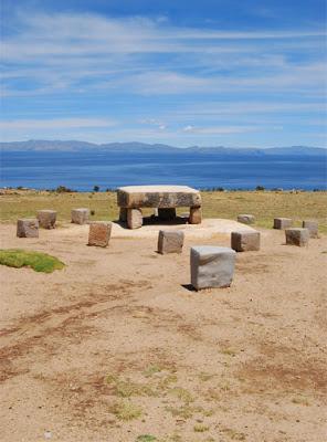 Restos arqueológicos en la Isla del Sol