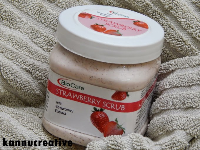 BIO CARE Strawberry Scrub: Review + Swatch + Demo