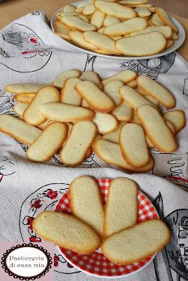 biscotti lingue di gatto ricetta pasticceria di casa mia
