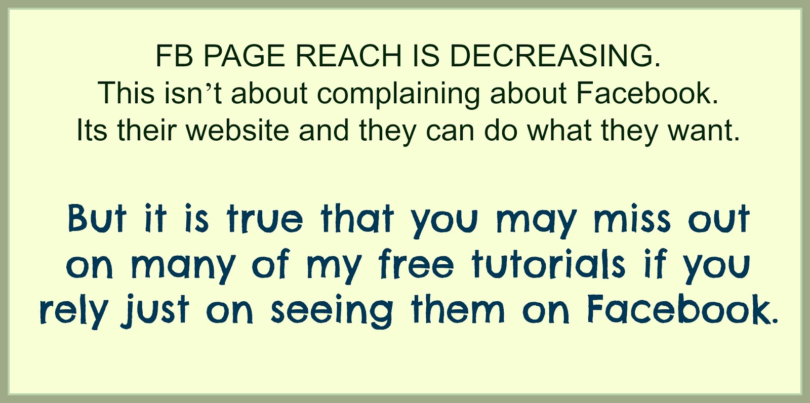 About Facebook and about how much you REALLY get to see