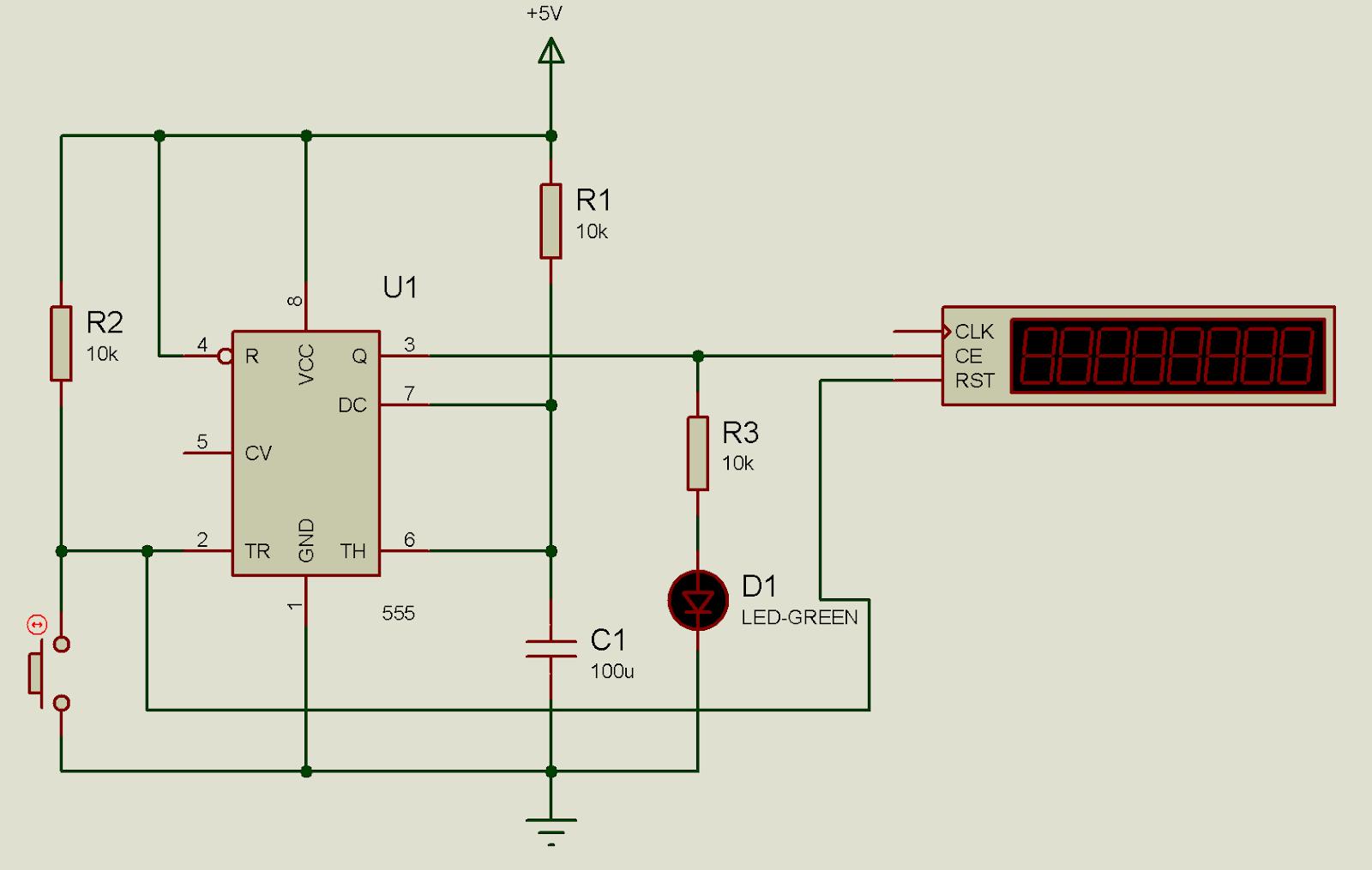 Electronica Digital Laboratorio 6 De Electrnica Temporizador 555 Descarga Calculador Frecuencia Compruebe Utilizando El Osciloscopio Y Contador Tiempo Incorporado En Simulador