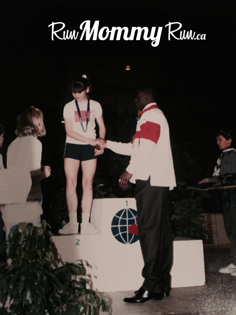 photo of Me receiving a silver medal by Ben Johnson