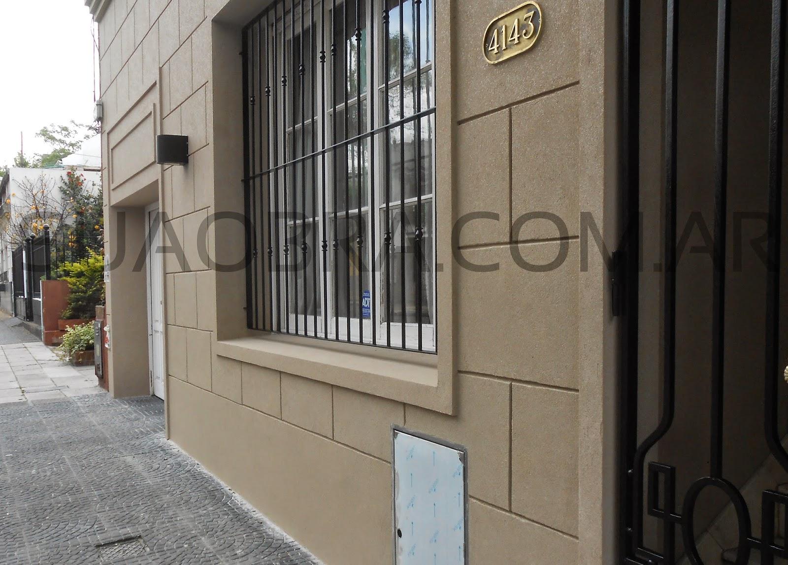 Renovacion De Fachada Con Revoque Plastico Sobre Revestimientos - Recubrimientos-fachadas
