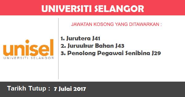 Jawatan Kosong di Universiti Selangor
