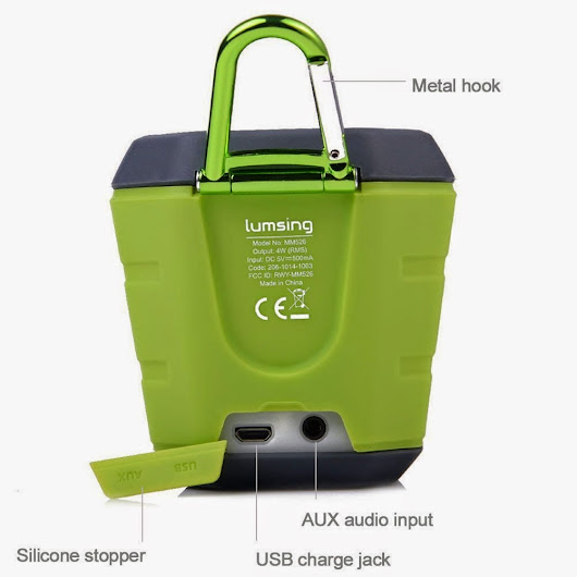 The speaker has Bluetooth water resistant and durable