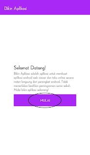 buka aplikasi tersebut dan klik MULAI