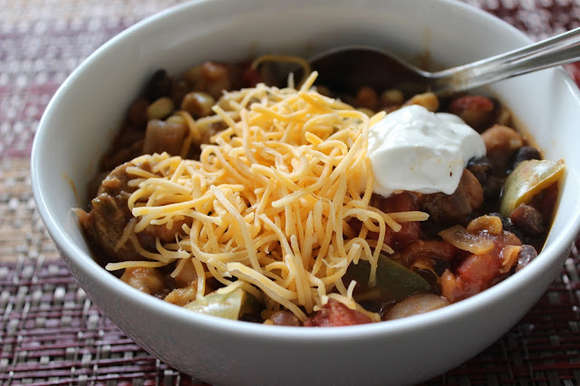The Best Vegetarian Chili | A Hoppy Medium