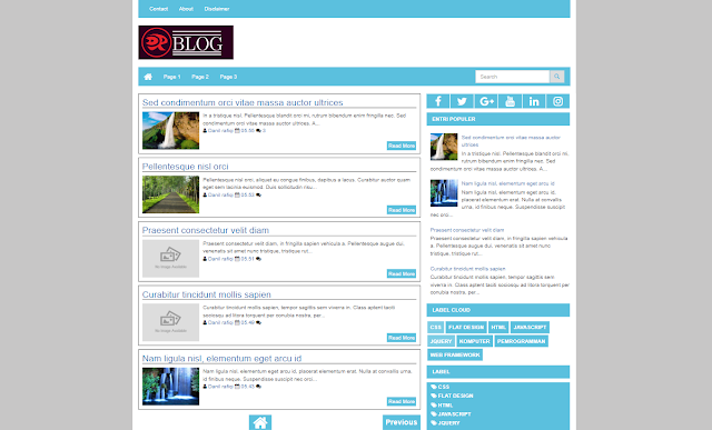 Plater Pro Responsive Blogger Template