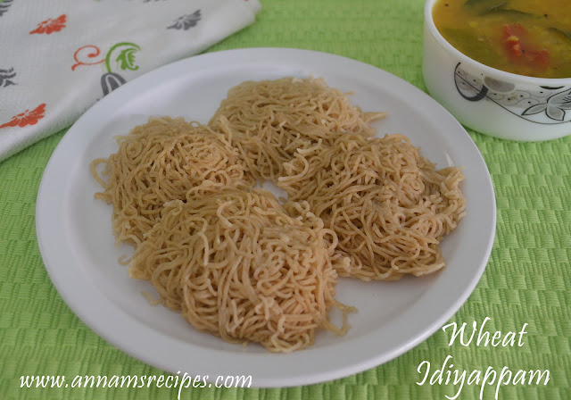 Wheat Idiyappam | Wheat String Hoppers