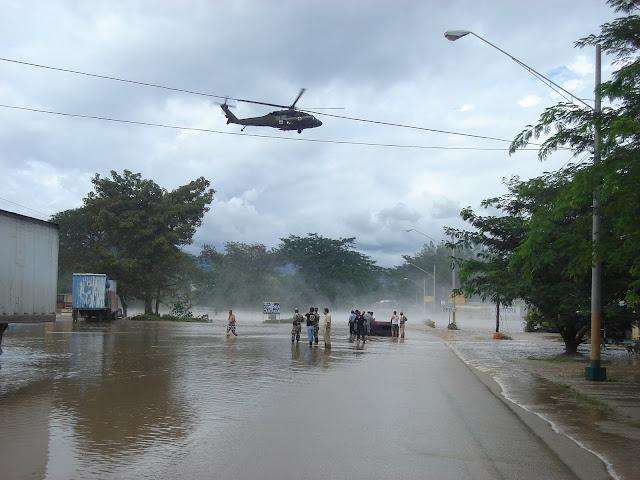 choppers saving victims - rain