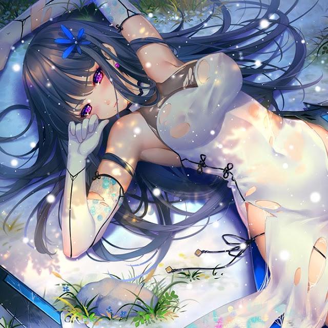 Lying Anime Girl Wallpaper Engine