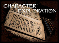 image of pages with writing on them, the words Character Exploration, pathfinder