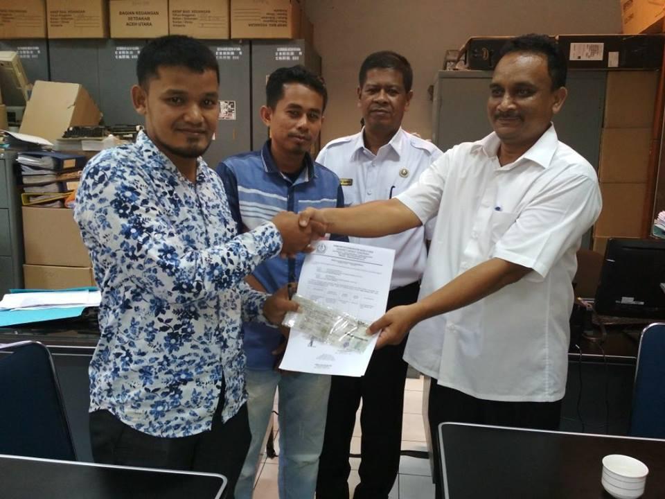 LPD Menerima Pinjam Pakai Mobil dari Pemda Aceh Utara